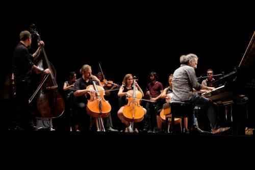 LMF16 Bollani con studenti delle master class in concerto al teatro goldoni